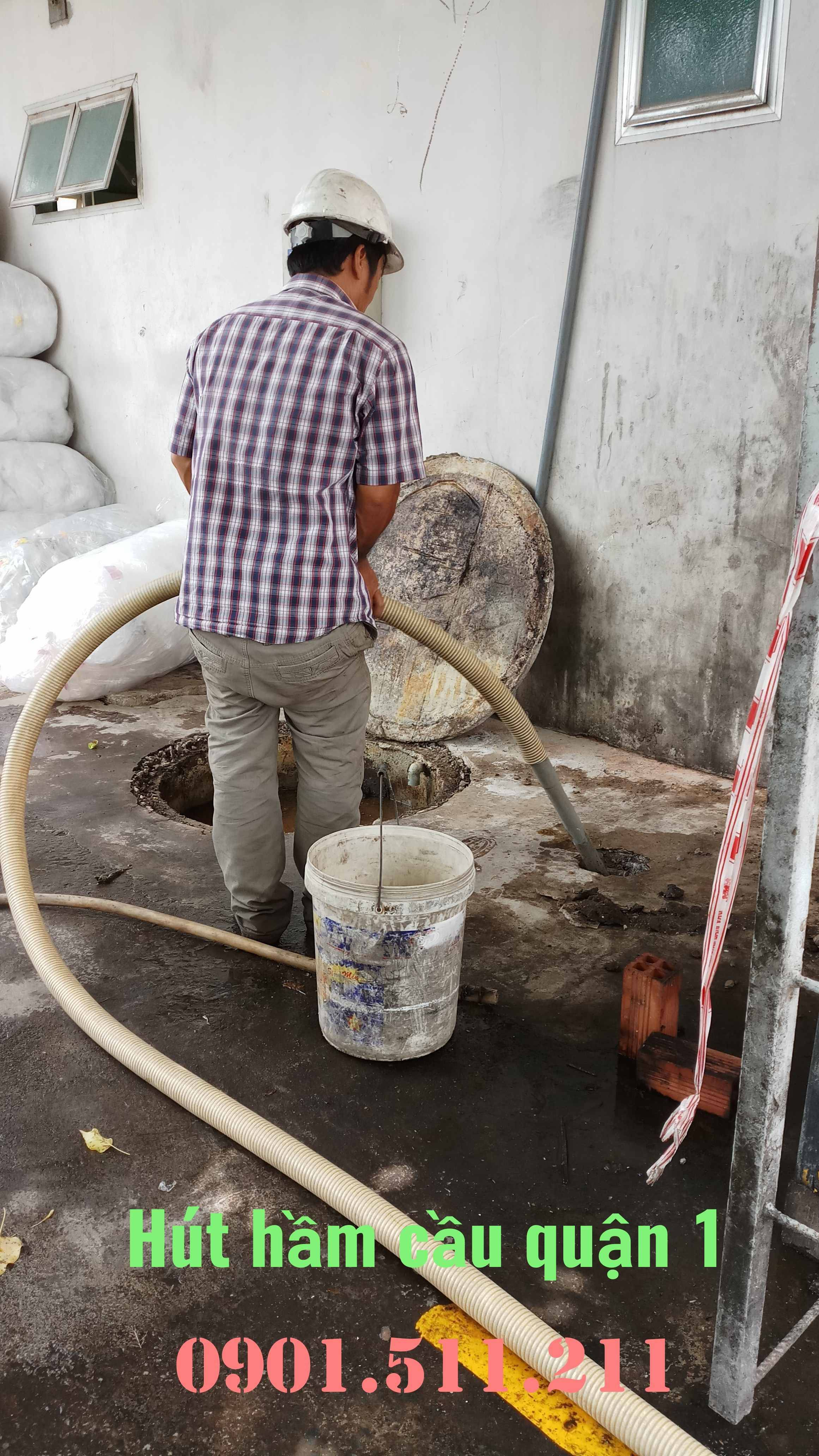 Hút hầm cầu quận 1 giá rẻ uy tín HOÀNG LONG 0901511211