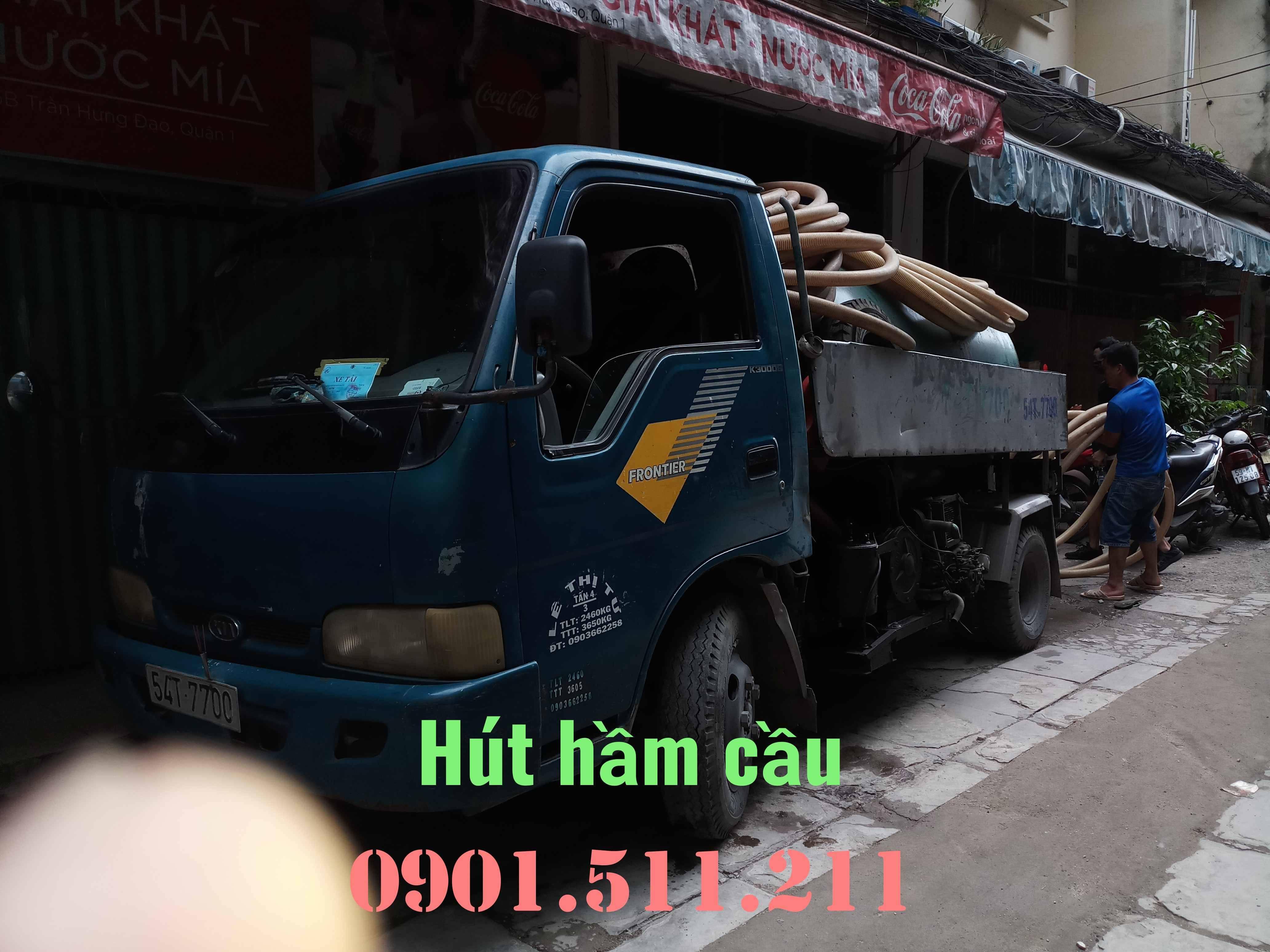 Hút hầm cầu giá rẻ uy tín HOÀNG LONG 0901511211