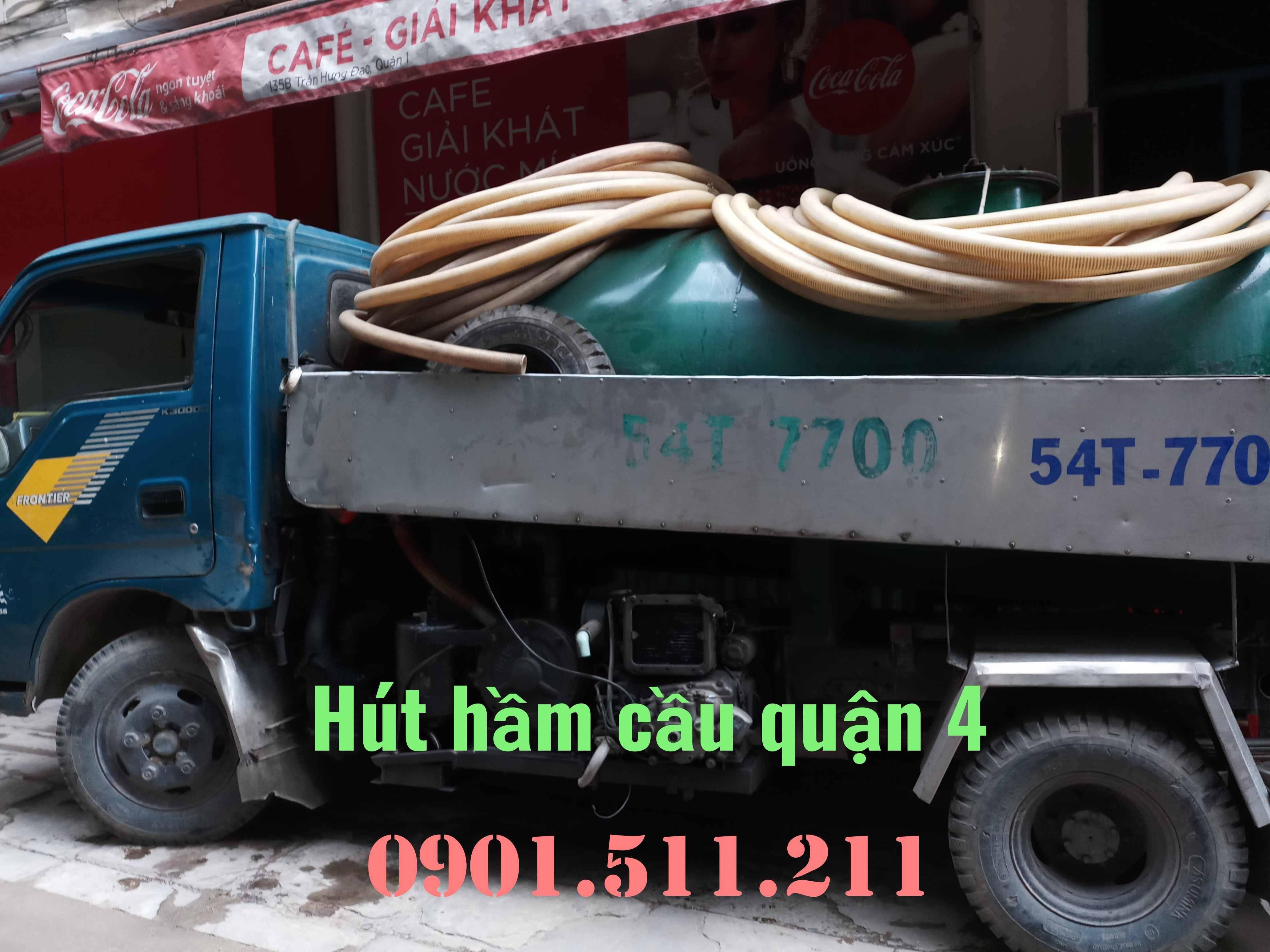 Hút hầm cầu quận 4 giá rẻ uy tín HOÀNG LONG 0901511211