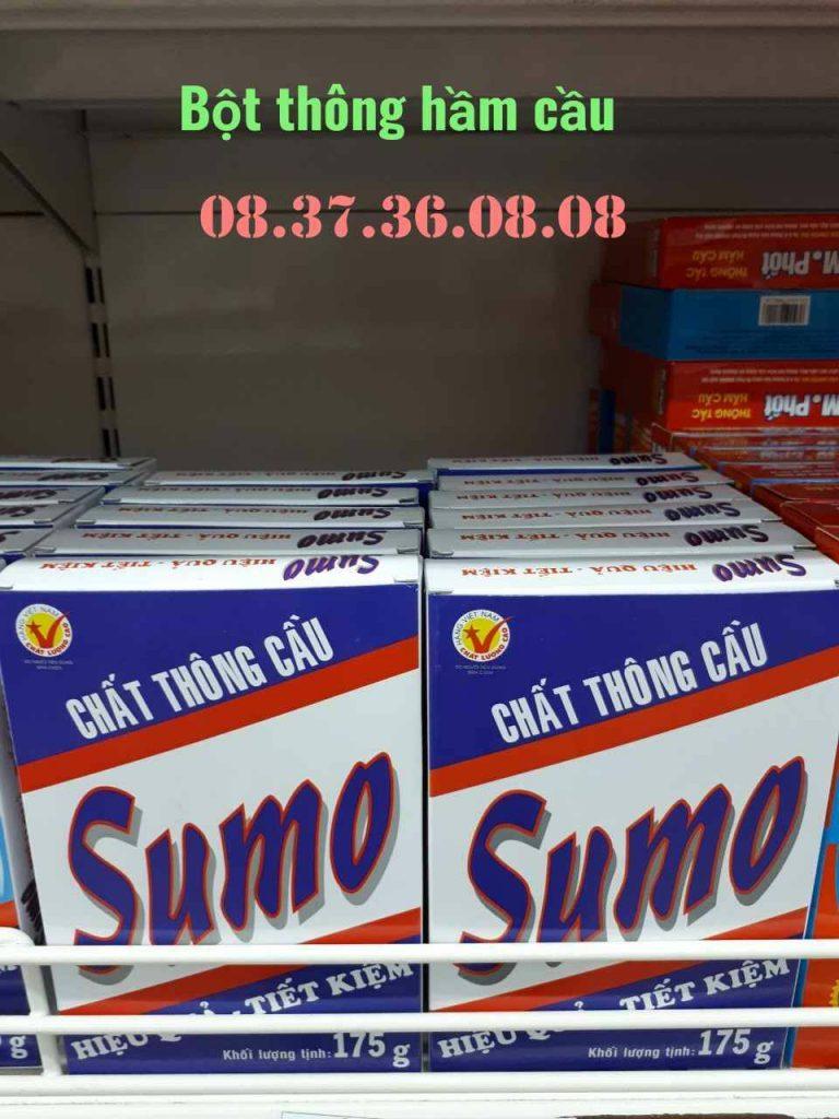 Bột thông tắc bồn cầu vệ sinh Sumo.