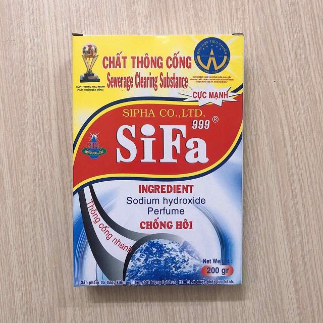 Bột thông tắc bồn cầu toilet bệt vệ sinh SIFA.