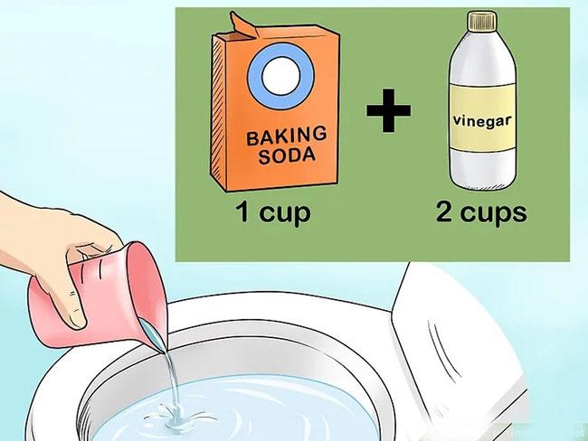 Cách thứ 5: Cách thông cống bằng baking soda.