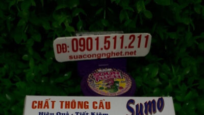 Bột thông bồn cầu Sumo giá 50.000đ, thông tắc bồn rửa chén