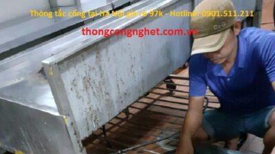 Thông tắc cống tại Hà Nội giá rẻ 97k, bảo đảm uy tín