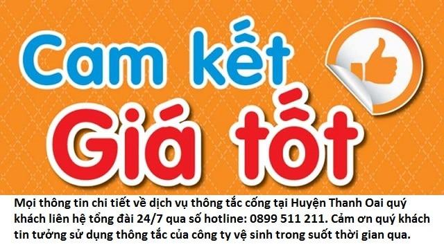 bảng báo giá dịch vụ thông tắc cống huyện thanh oai