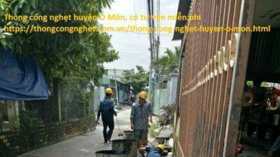 Thông cống nghẹt huyện Ô Môn giá 500k, tư vấn miễn phí