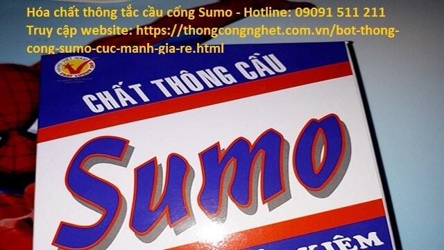 bột thông cống nghẹt sumo