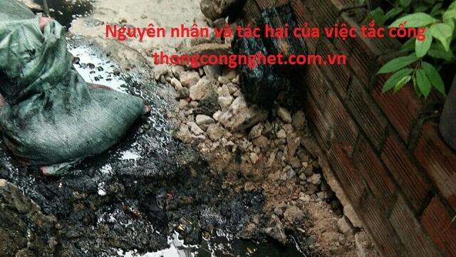 Nguyên nhân gây nghẹt cống tại Hà Nội.