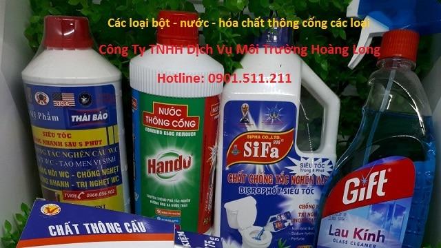 Giới thiệu 1 số loại bột thông bồn cầu khử mùi hôi.