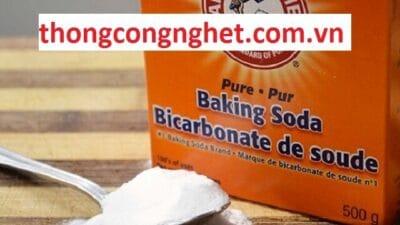 cách thông cống nghẹt bằng baking soda