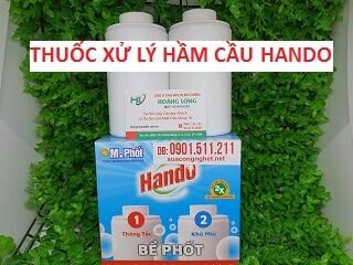 Bột men vi sinh Hando xử lý hầm cầu chống hôi và đầy bồn cầu