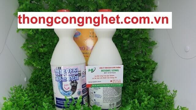 Sử dụng bột nước thông cống Hàn Quốc