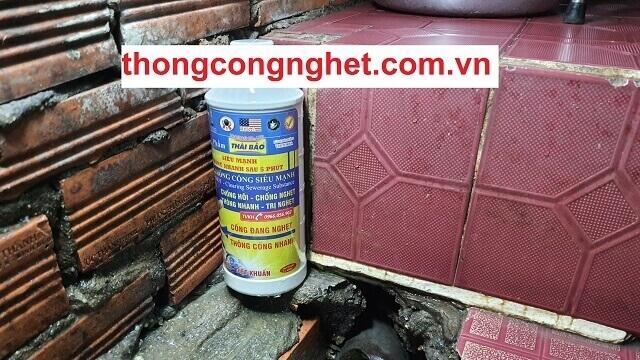 Nước thông cống Thái Bảo cực mạnh