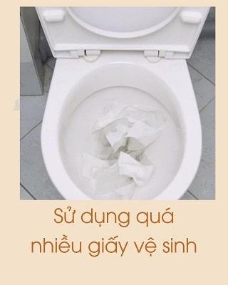 Tắc bồn cầu do thủ phạm là giấy vệ sinh