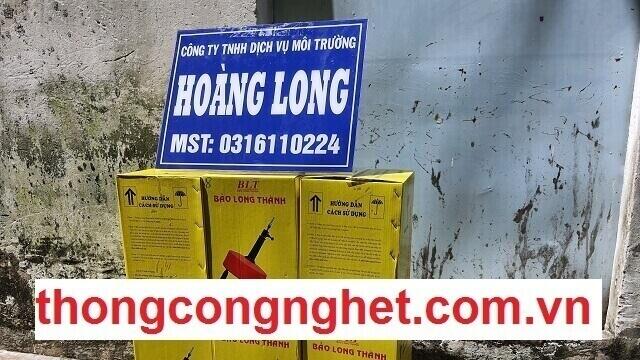 Cửa hàng bán dụng cụ thiết bị thông cống, bồn cầu tại công ty Hoàng Long